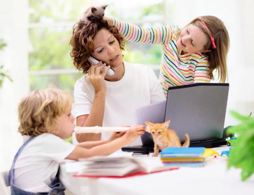 Guía para organizarse el trabajo en casa con niños