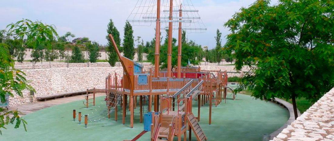 Barco pirata del Parque de Cabecera
